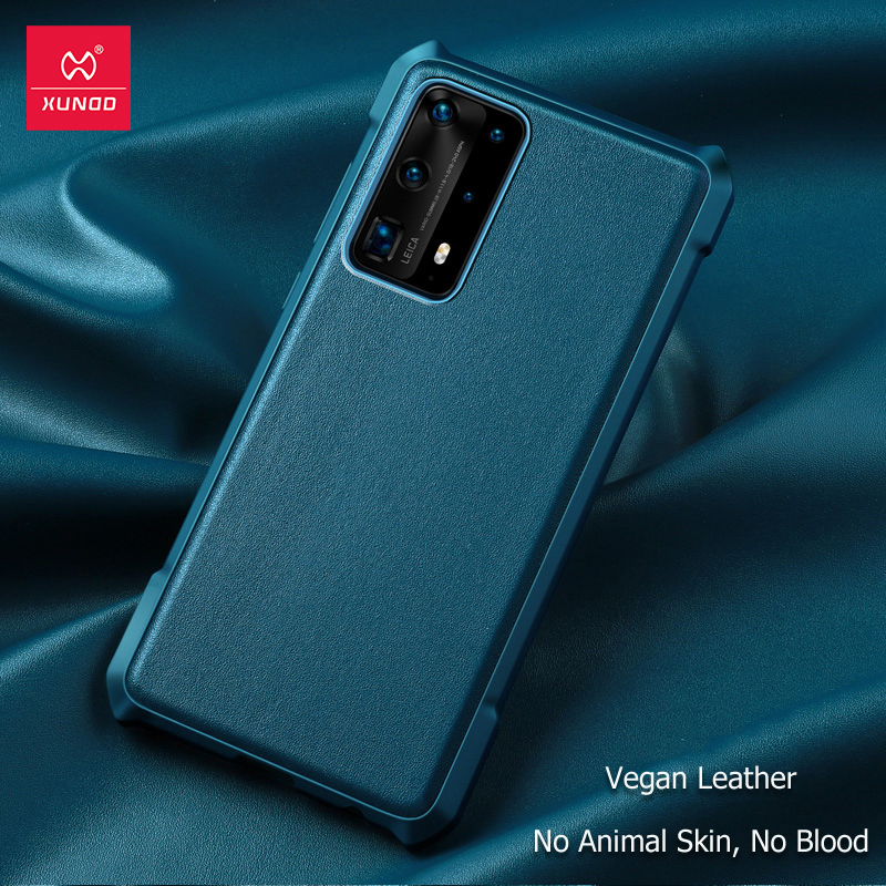 Xundd Phone Case For Huawei P40 Pro P40 Pro+ Case Vegan Leather Shockproof Protective Phone Cover Soft Back Case With Airbags