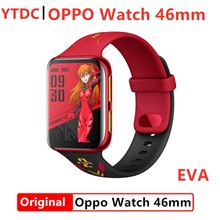 Oryginalny oficjalny zegarek OPPO 46mm eSIM Snapdragon2500 ekran AMOLED 430mAh duża bateria 1GB 8GB 1.91-calowy stop aluminium VOOC