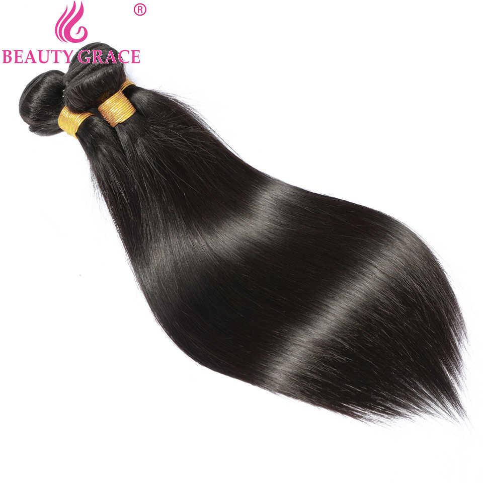 Steil Haar 3 Bundel Deals Braziliaanse Hair Weave Bundels Human Hair Bundels 28 30 32 Inch Bundel Non-Remy hair Extensions