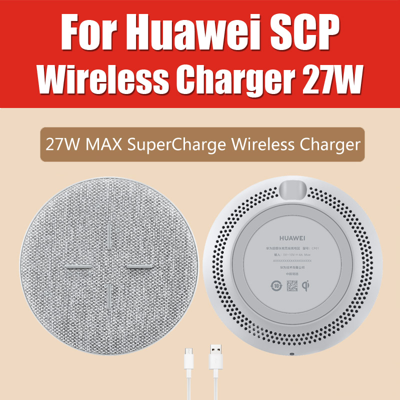 CP61 <font><b>HUAWEI</b></font> <font><b>SuperCharge</b></font> Wireless Charger Max 27W Original <font><b>Huawei</b></font> Qi Standard TÜV Certified for Mate 30 Pro iPhone 11 Pro Max image