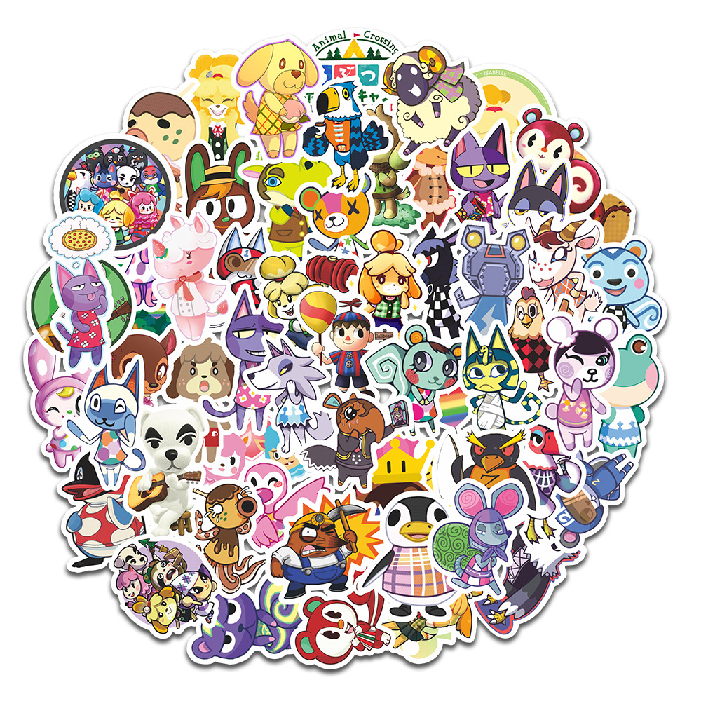 Animal Crossing Sticker Forest Friends Club Graffiti Pegatinas Mobile Computer Skateboard Stickers Amiibo Animal Naklejki
