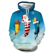 Happy Holidays Men Xmas Hoodies Spring Autumn Hooded 3D Designer Merry Christmas Sweatshirts