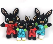 New 30/37cm Sequins Cartoon Bing Bunny Rabbit Plush Toy Rabbit Animal Soft Bing's Friends Animals Doll Toys For Kids Gifts(China)