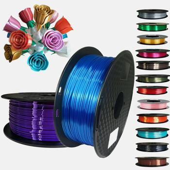 Jedwab PLA Filament 1 75mm 1kg 500G 250G 3D Filament drukarki jedwabisty połysk 3D długopis materiały do drukowania błyszczące metalowe PLA Filament tanie i dobre opinie EasyThreed CN (pochodzenie) Z jednego materiału SILKPLA175-1KG