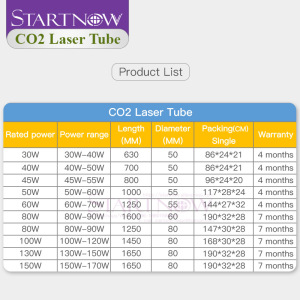 Image 5 - Startnow 40W Laser Tube CO2 Laser Glass Lamp For Laser Power Supply Engraver Machine Parts Pipe Carving Cut Marking Equipment