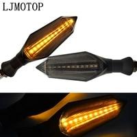 Led sinal de volta da motocicleta sinais volta luz luzes traseiras indicadores para yamaha dt230 dt125 serow 225 250 ttr125 250 600|  -