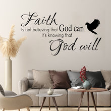 Faith GOD WILL,English sticker carving custom AF3024 with transfer film wall pasting,31X56CM,English wall decal, home decal