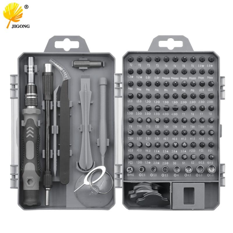 115 em 1 conjunto de chave de fenda conjunto de bits multi-função precisão dispositivo de reparo do telefone móvel ferramentas manuais torx hex