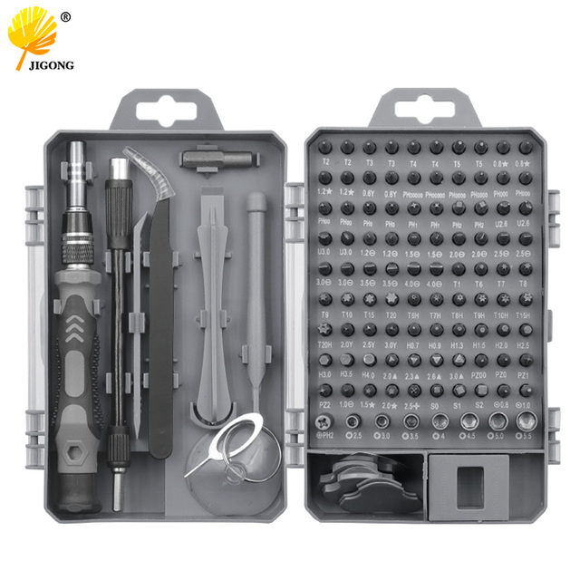 115 in 1 Screwdriver Set Screwdriver Bit Set Multi-function Precision Mobile Phone Repair Device Hand Tools Torx Hex