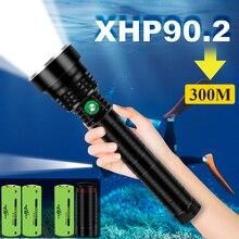 xhp90 다이빙 xhp70 수중 강력한 led 손전등 램프 방수 다이빙 토치 26650 or18650 xhp50 사냥 스쿠버 플래시 라이트