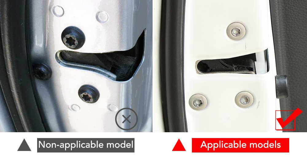 Couvercle de protection de vis de serrure de porte de voiture pour Toyota Auris Camry RAV4 Avalon Yaris Verso