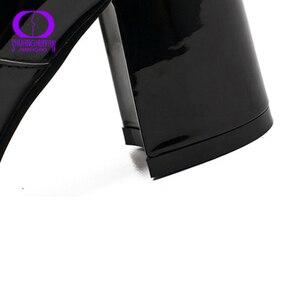 Image 5 - AIMEIGAO חם קטיפה רוכסנים קרסול מגפי נשים החורף שחור עור מפוצל לנשימה שלג מגפי נשים עמיד למים נעלי עקבים גבוהים