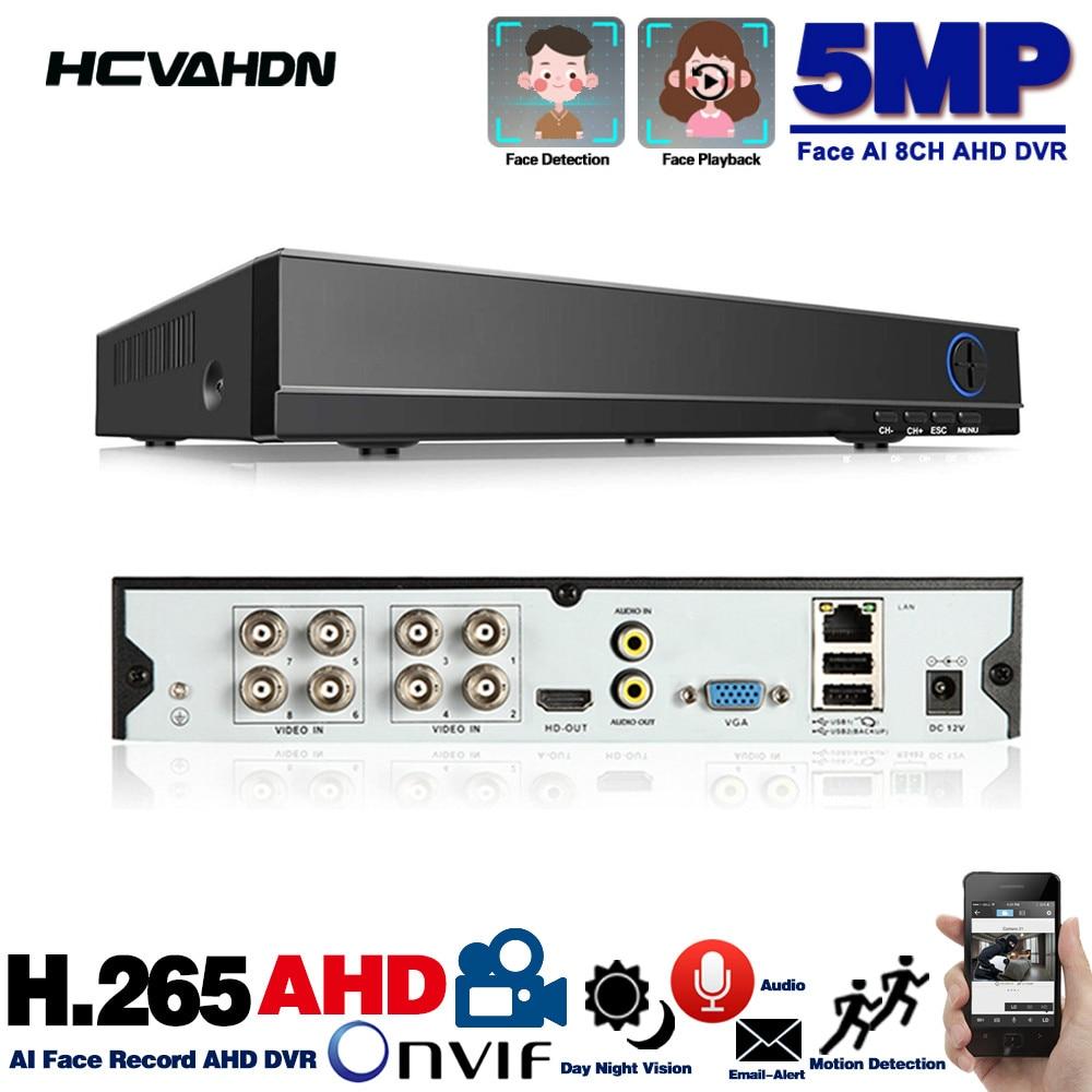 6 w 1 H.265 8 kanałowy wideo AHD nagrywarka hybrydowa dla 5MP/4MP/3MP/1080P Xmeye P2P CCTV DVR AHD DVR obsługuje USB Wifi 8ch