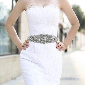Image 2 - TRiXY S233 Stunning Womens Belt Crystal Wedding Belt Rhinestone Bridal Belt Sashes  Prom Dress Belt Sashes Wide Wedding Belt
