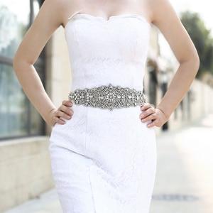 Image 2 - TRiXY S233 superbe ceinture pour femmes ceinture de mariage en cristal strass ceinture de mariée ceintures robe de bal ceinture ceintures large ceinture de mariage