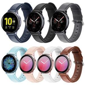 Оригинальный кожаный ремешок для Xiaomi Huami Amazfit Bip и Galaxy Watch Active, 20 мм, 22 мм, ремешок на запястье для Huawei Watch GT & Gear S3