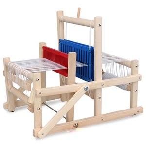 Image 1 - עץ מסורתי אריגת נול ילדי צעצוע מלאכת מתנה חינוכית עץ אריגת מסגרת סריגה מכונה