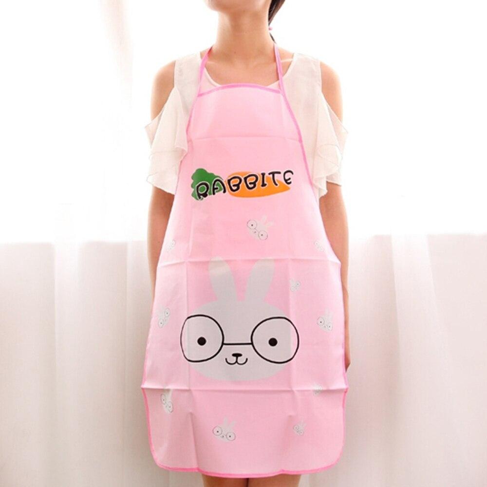 Aprons For Woman Lovely Cartoon Apron Sleeveless Waterproof Anti-oil Aprons Kitchen Cooking Waist Bib Creative Kitchen Apron