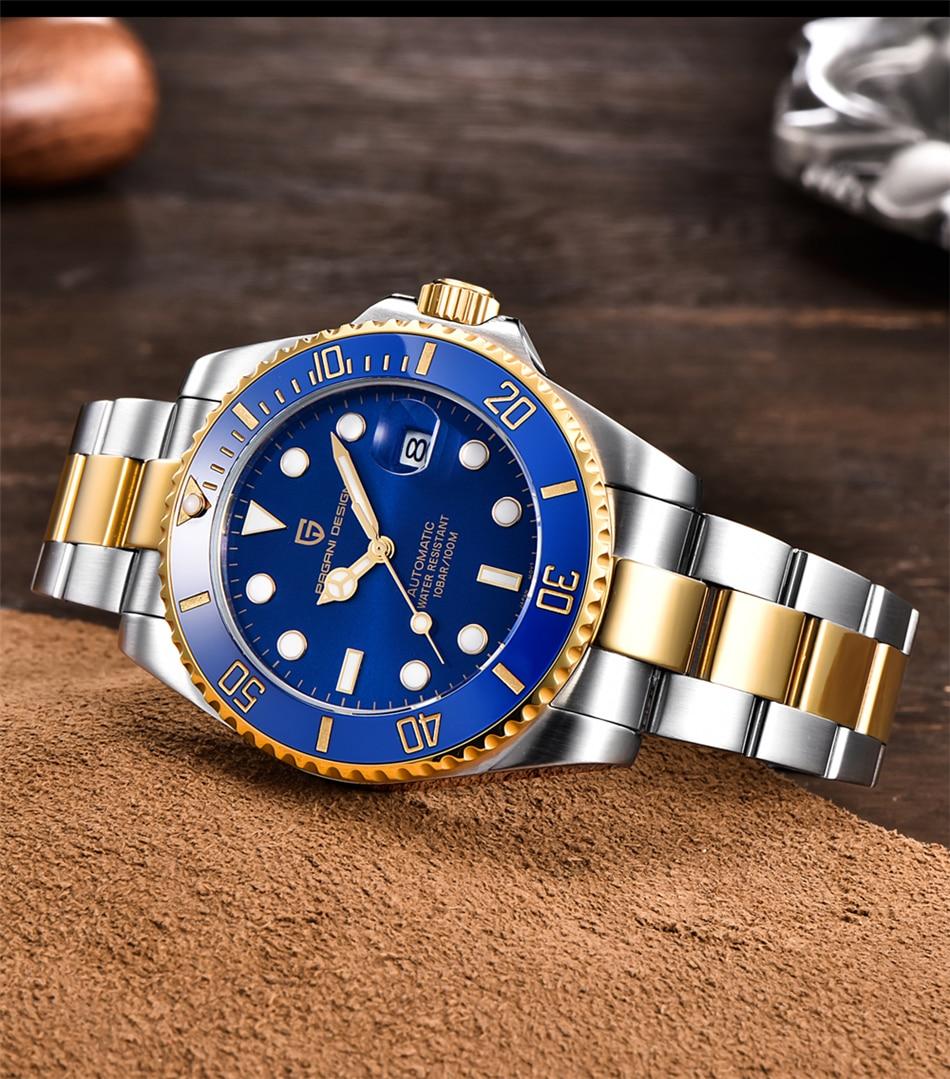 H677d7eb5f0134f37b100f3fc75119e05p PAGANI2019 Design Brand Luxury Men Watches Automatic Black Watch Men Stainless Steel Waterproof Business Sport Mechanical