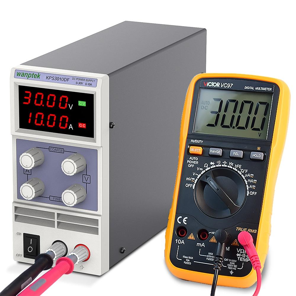 Wanptek Adjustable DC power supply 30V 10A LED Digital Lab Bench Power Source Stabilized Power Supply Voltage Regulator Switch-2