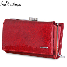 DICIHAYA Genuine Leather Women Wallet CrocodileCoin Pocket L