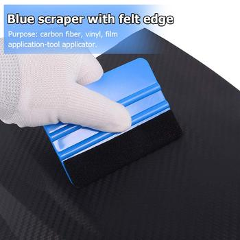 Car Vinyl Film wrapping tools Scraper Squeegee with Felt Edge Auto Styling Stickers Accessories Tool Applicator For Carbon Fibre image