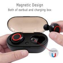 Écouteurs Bluetooth 5.0 TWS, oreillettes de Sport, casque d'écoute étanche avec Microphone, à commande par bouton, Y50