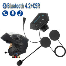 Bluetooth 4.2 moto capacete fone de ouvido sem fio handsfree estéreo da motocicleta capacete fones mp3 falante chip csr8635