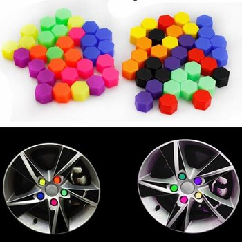 20pcs/bag 17mm Wheel Nut Covers Car Bolt Caps Wheel Nuts Silicone Covers Practical Hub Screw Cap Protector image