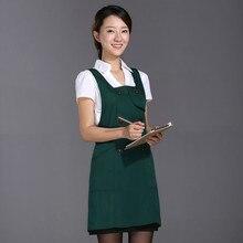 Simple Korean version of fashion kitchen apron cloth princess European-style work clothes apron custom LOGO