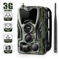 3G Wireless Celluar Hunting Camera Trail Cameras SMS/MMS/SMTP IP66 16MP 1080P Photo Traps 940nm LEDs Wild Cameras HC801G