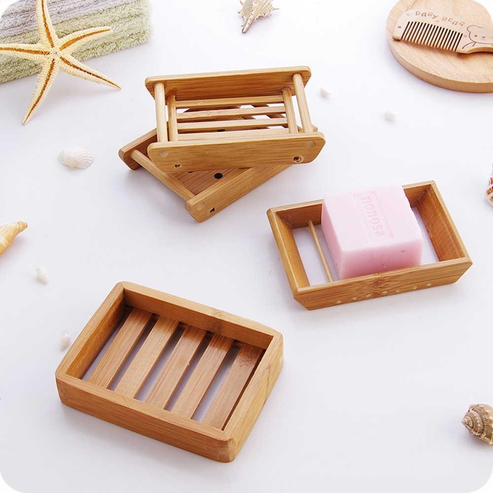 ポータブルソープディッシュクリエイティブシンプルな竹手動ドレン石鹸ケース浴室和風ソープトレイホルダー
