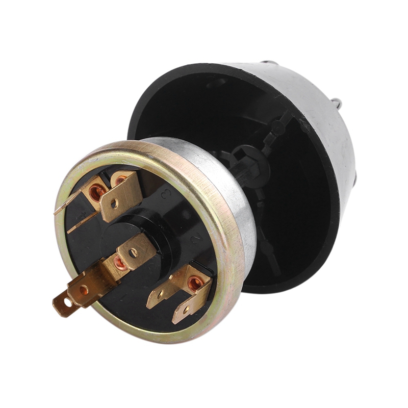 Plata + Negro Qii lu Car Horn Switch ABS 12V Impermeable Luz//Horn Switch Push Button Metal para Massey Ferguson Tractor