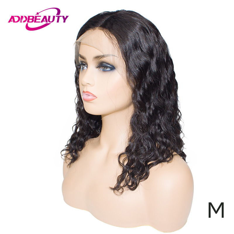 Loose Deep Short Bob 13x6 Lace Front Wig For Black Women Brazilian Human Remy Hair Natural Wave Hairline Color 150% Middle Ratio