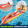 Inflatable Hammock Floatings Row Swimming Bed Foldable Portable Inflatable Back Sunshade Swimming Pool Middle Mesh Water Chair 1