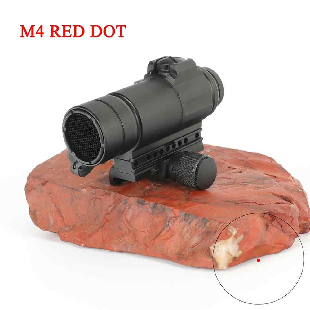 M4 מקצועי אדום dot Sight שילוב Sight 20mm rail רובה airsoft בחוץ ציד היקף riflescope ציד אופטיקה