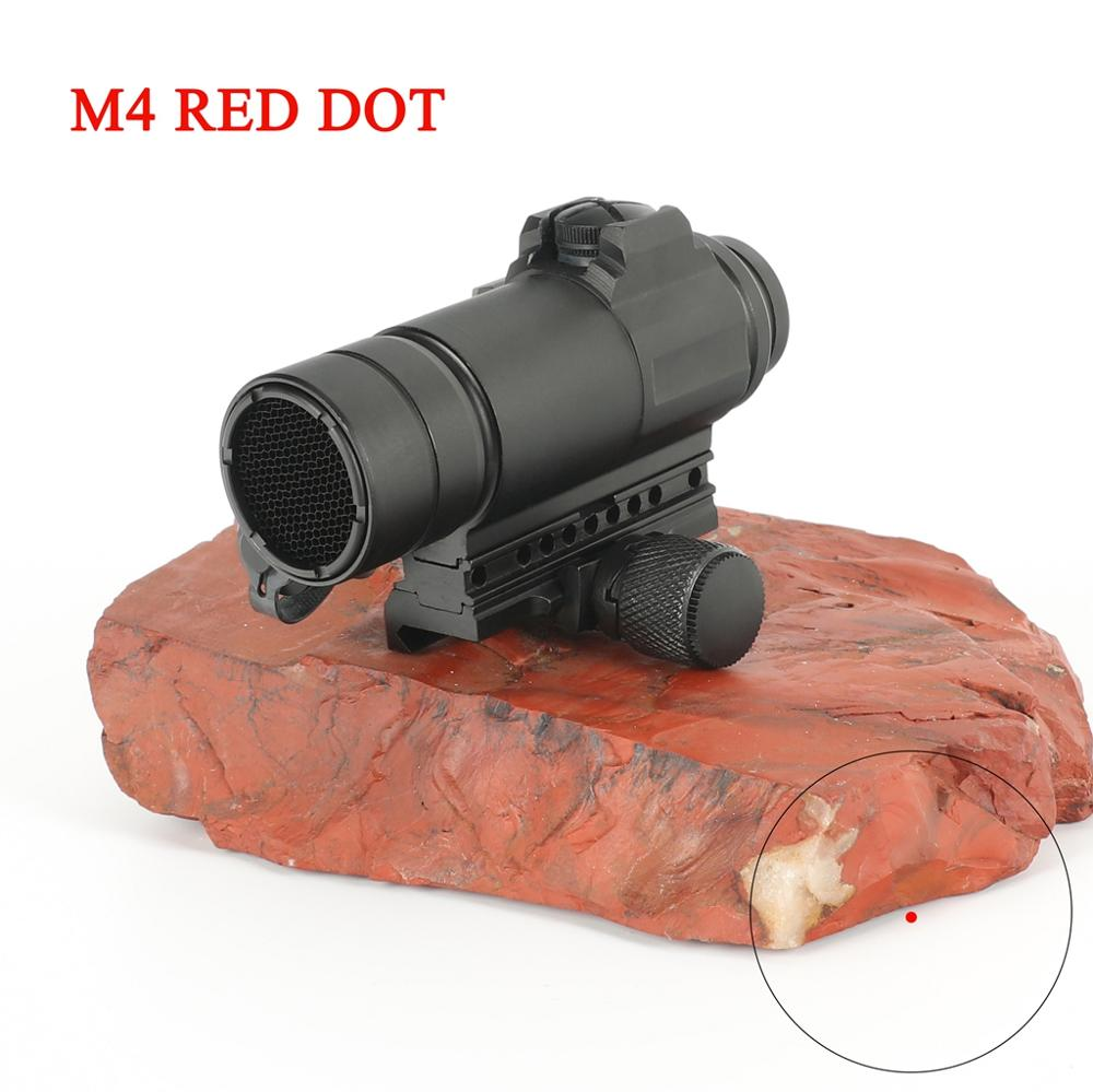 M4 Профессиональный красный точечный прицел комбинированный прицел для 20 мм рельсовая винтовка страйкбол на открытом воздухе охотничий при...