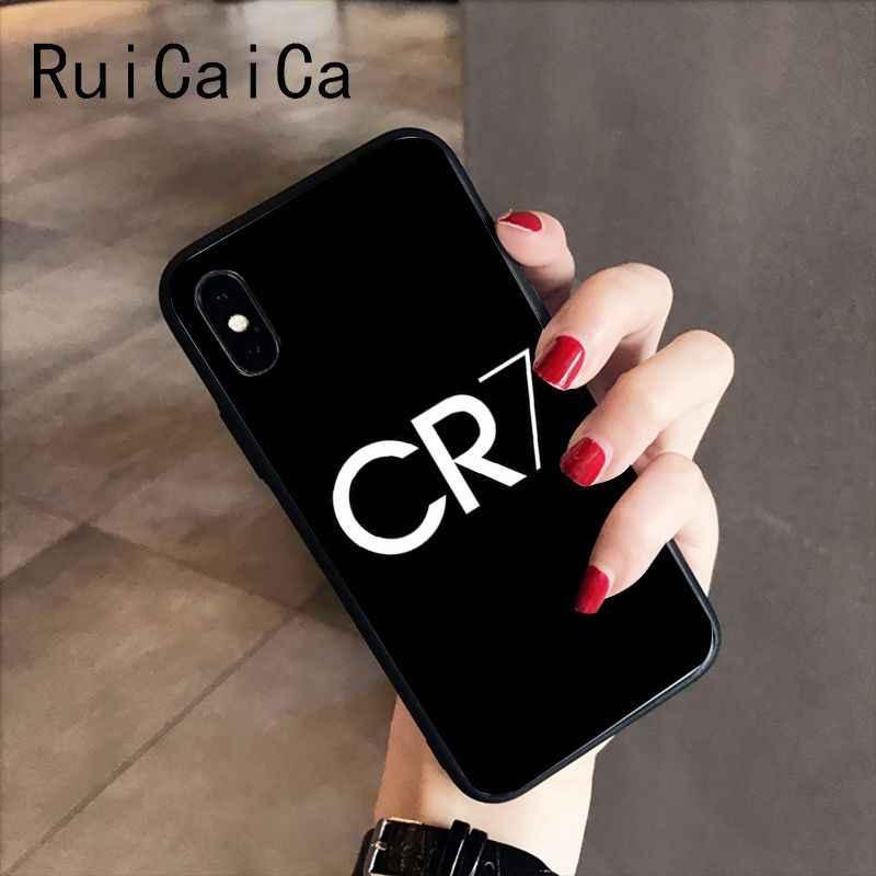 RuiCaiCa CR7 logo cristiano ronaldo 7 Football bricolage protecteur téléphone étui pour iphone 8 7 6 6S 6plus X XS MAX 5 5S SE XR 10 étuis