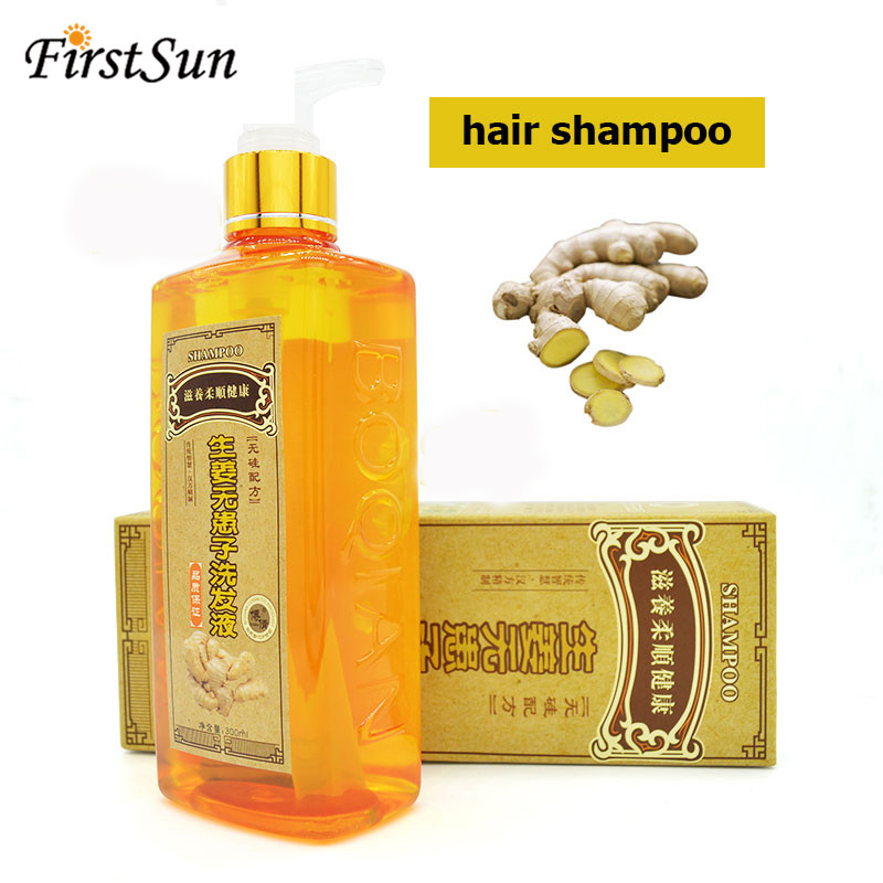 Professional Hair Ginger Shampoo 300ml, Hair Regrowth Dense Fast,Thicker, Shampoo Anti Hair Loss Product Repair Nourish Supple