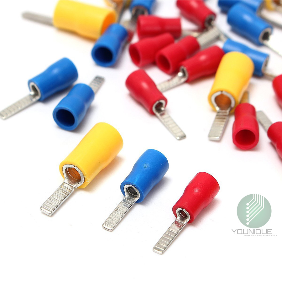 Blade Electrical Terminals Crimp Connectors Red or Blue or Yellow