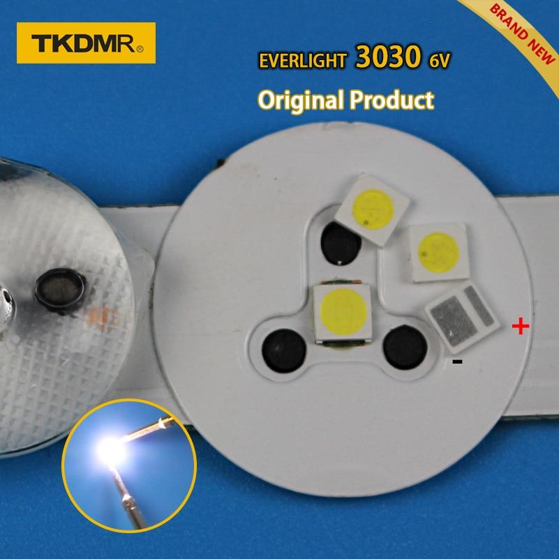 TKDMR 50pcs Led Tv Backlight 1.8W 3030 6V Kit Electronique Led Led For Lcd Tv Repair Assorted Pack Kit Cool White Free Shipping