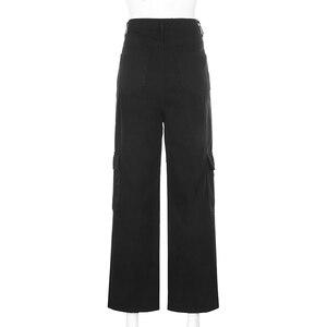 Image 5 - Darlingagaแฟชั่นตรงDenimสูงเอวกระเป๋ากางเกงหลวมผู้หญิงกางเกงCargoกางเกงยีนส์สตรีด้านล่างPantalon