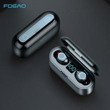 Wireless Earphone Earbuds Power-Bank Tws Bluetooth Led-Display 2000mah-Charging-Box