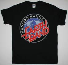 T-shirt noir avec Logo de la bande de terre Manfred Mann S, Saga 10Cc, le projet Alan Parsons