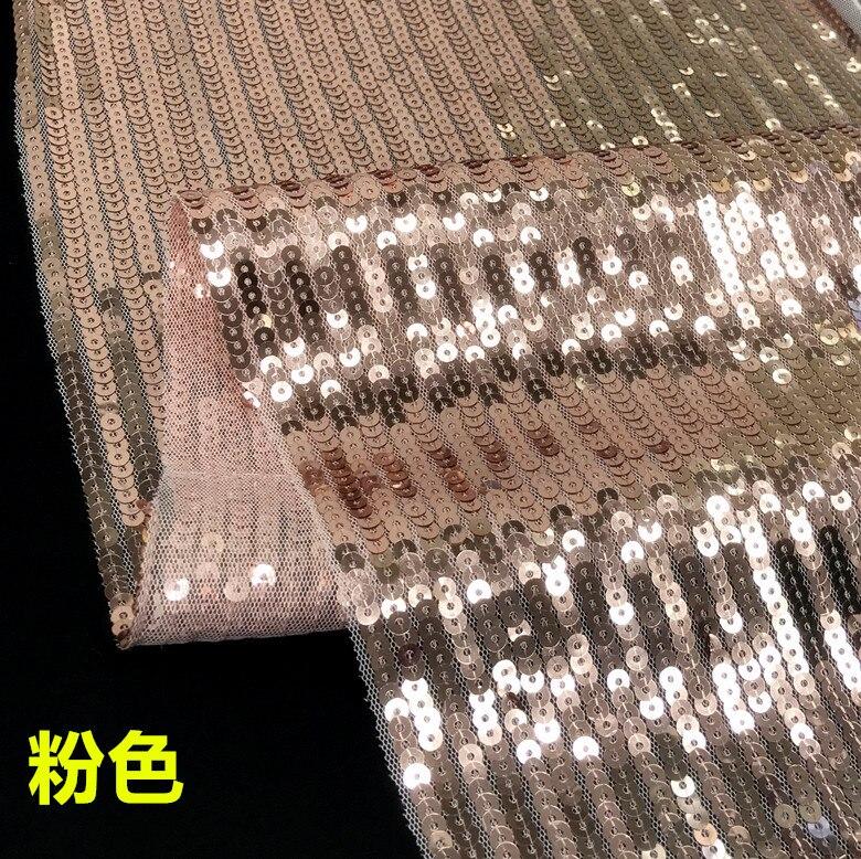 5MM Sequin droite rangée maille tissu Ultra-brillant lumière concepteur bricolage femmes robe de soirée Tecido Bazin Riche Getzner Stoffen 90x130cm