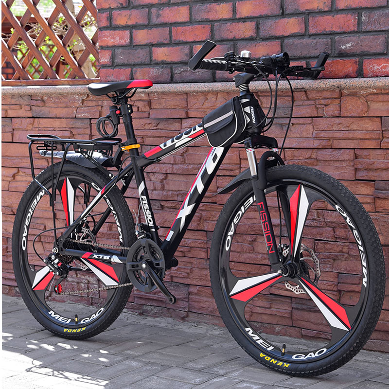 26 Inch Mountain Bicycle 21/24/27 Speed Adult Variable Speed Bicycle Student Deluxe Off-Road Double Disc Brake Bike