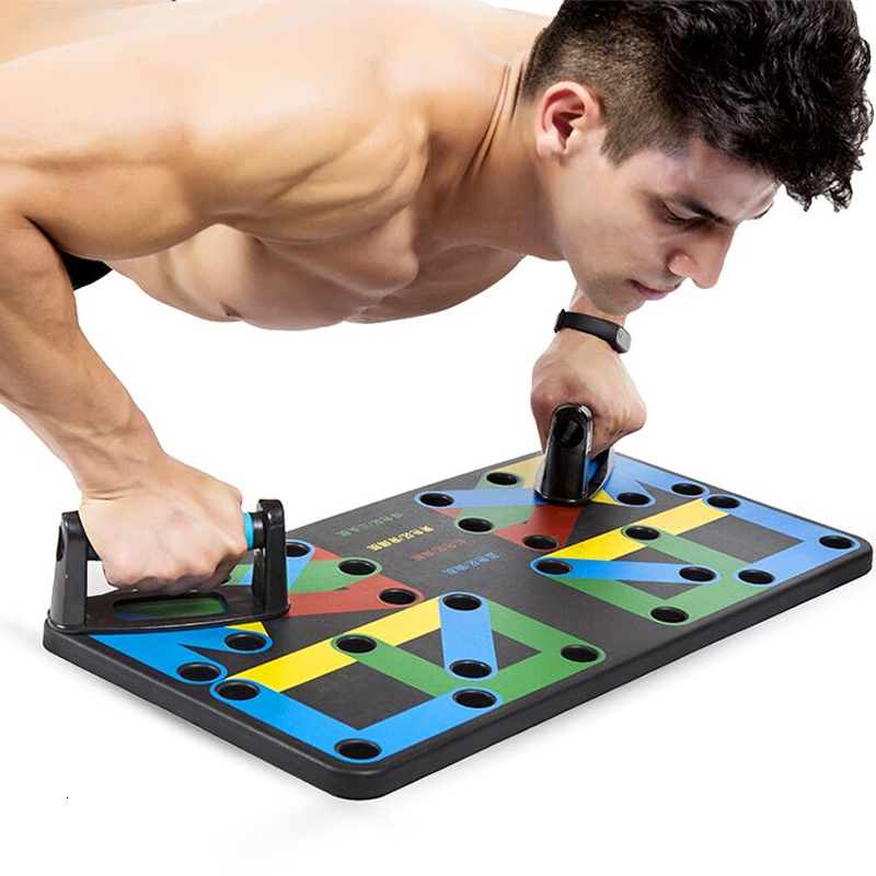 Multi-Function 9 In 1 Push-up Stands Gym Training System Home Muscle Equipment Push Up Rack Board For Men Comprehensive Fitness