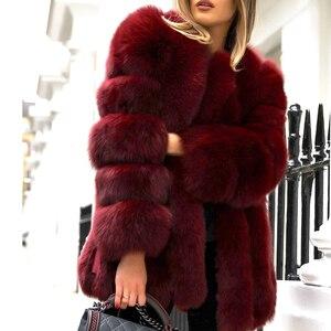 Image 4 - BFFUR ملابس خارجية للنساء معطف من الفرو الحقيقي 2020 جاكيت من الجلد الطبيعي الأصلي ملابس علوية للسيدات معطف شتوي متوسط موضة جلد كامل متين