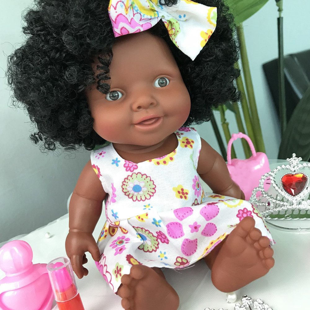 Baby Movable Joint African Doll Toy Black Doll Best Gift Toy Christmas Gift