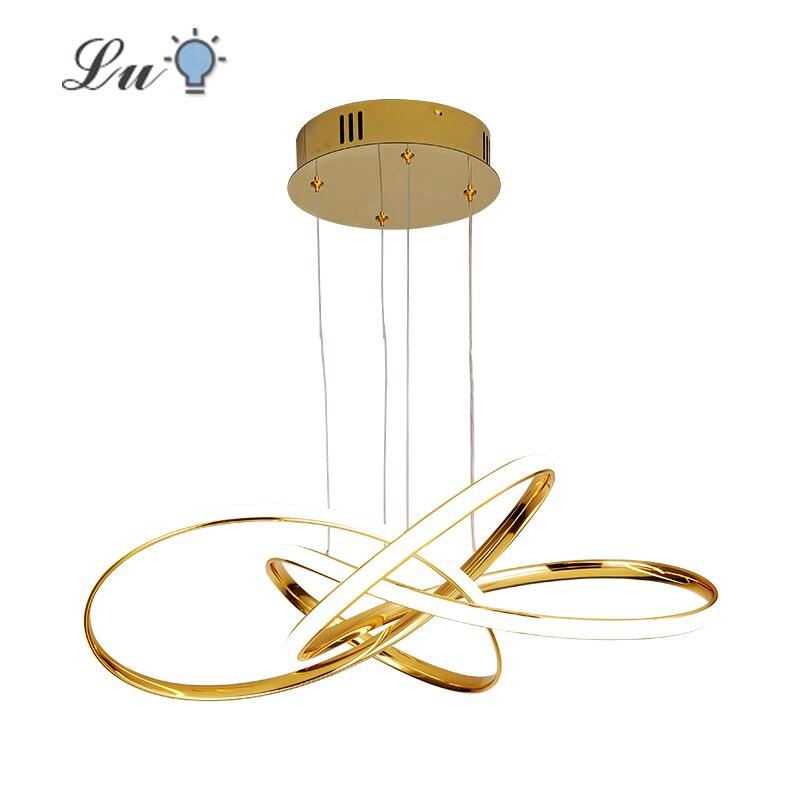 LED Chrome/Gold Pendant Lights For Dining Room Kitchen Bedroom Living Room Hanging Lamp Indoor Lighting Pendant Lamps Fixtures